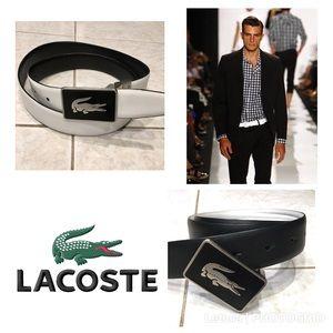Lacoste reversible black white belt